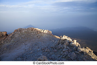 Canary Islands, Tenerife, from the top of Teide, the tallest...