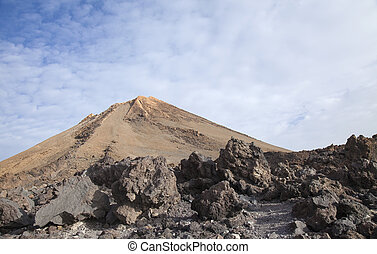 Canary Islands, Tenerife, the very top of Teide, the tallest...