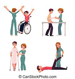 Medical rehabilitation, physical therapy activities,...