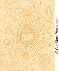 Tan Background with Circles