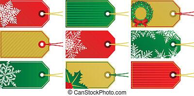 Nine Christmas Tags