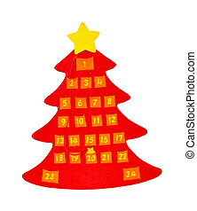 Advent calendar - Traditional advent calendar with countdown...