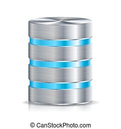 Network Database Disc Icon Vector. Highly Detailed...
