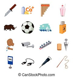 Army, dentistry, sports, transportation and other web icon in cartoon style. Parking, alcohol, animal, mine icons in set collection.
