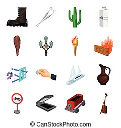 Mongolia, Transport, army, parking and other web icon in cartoon style. Mine, dentistry, art icons in set collection.