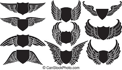 escudos, asas