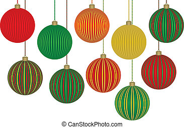 Ten Fabulous Christmas Ornaments Each ball is grouped...