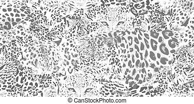Safari dreams. Grunge background with leopard spots.