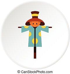 Scarecrow icon circle