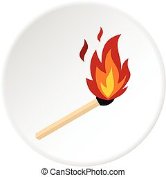 Match with fire icon circle
