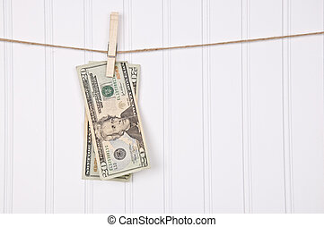 Money Laundering Financial Business Concept Image with...