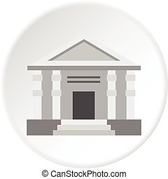 Colonnade icon circle - Colonnade icon in flat circle...