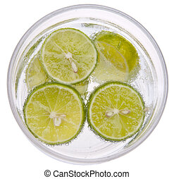 Seltzer with Limes - Seltzer Water with Key Limes.