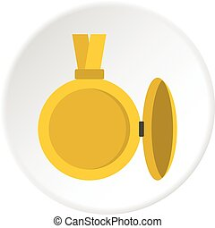 Medallion with blank space for photo icon circle