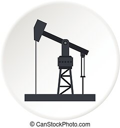 Oil industry equipment icon circle - Oil industry equipment...