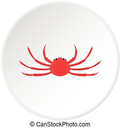 Japanese spider crab icon circle