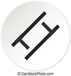 Tonfa, traditional asian weapon icon circle