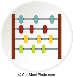Children abacus icon circle - Children abacus icon in flat...
