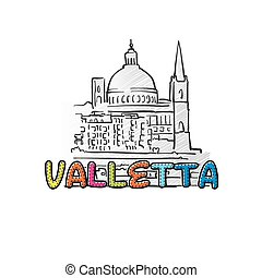 Valetta beautiful sketched icon