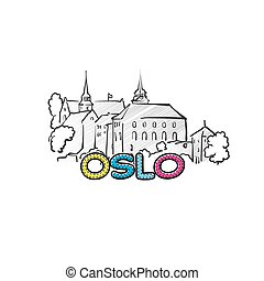 Oslo beautiful sketched icon