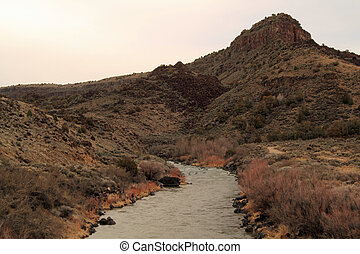 Orilla Verde Recreation Area - Scenic view of the Rio Grande...