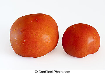 red tomato with isolated background