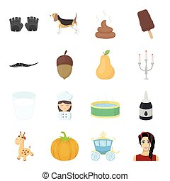 rest, entertainment, hobby and other web icon in cartoon style. coach, fairy tale icons in set collection.