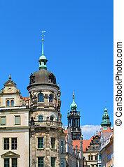 Dresdner Residenzschloss - Dresden Castle, Germany. View...