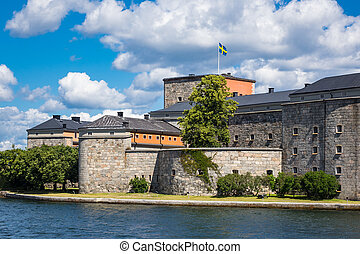 The castle Vaxholm on the swedish archipelago