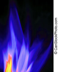 burning gas, close-up