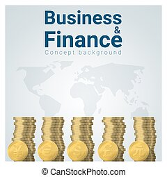 Business and Finance concept background with major currencies 1