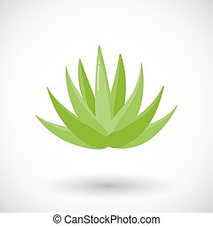 Agave plant vector flat icon, Flat design of food, drink and...