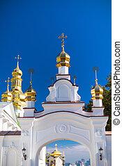 Kiev-Pechersk Lavra against the blue sky