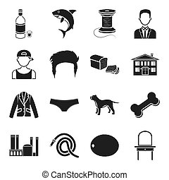 alcohol, atelier, appearance and other web icon in black style. architecture, food, clothing, furniture icons in set collection.