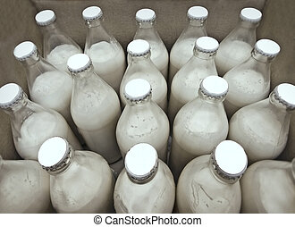 Milk - package of bottled milk