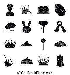 clothing, animal, mine and other web icon in black style.profession, parking icons in set collection.