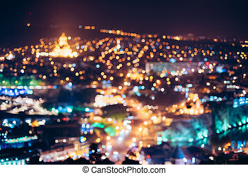 Absract Blurred Bokeh Architectural Urban Backdrop Of...