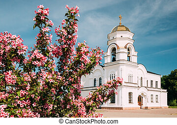 Brest, Belarus. Belfry Bell Tower Of Garrison Cathedral St....