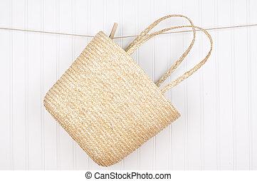 Beach Bag on a Clothesline