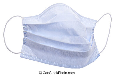 Surgical Mask Isolated on White with a Clipping Path.