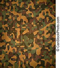 Camo - dingy camouflage on natural canvas
