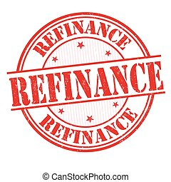 Refinance sign or stamp on white background, vector...