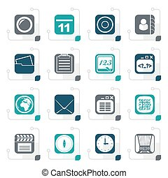 Stylized Mobile Phone and communication icons