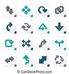 Stylized different kind of arrows icons