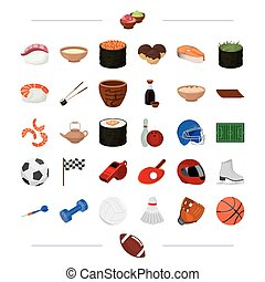 tourism, cafeteria, cooking and other web icon in cartoon style. sports, competitions, restaurant, icons in set collection.