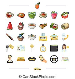 barbecue, rest, trip and other web icon in cartoon style.food, dessert, treats icons in set collection.,