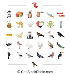 travel, entertainment, business and other web icon in cartoon style., flight, desserts, rest icons in set collection.
