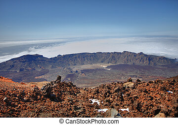 Teide's old crater - Foto was made from Teide's peak