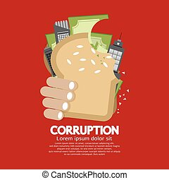 Corruption Concept Vector Illustration