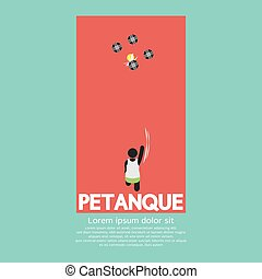 Top View Of Petanque Playing Vector Illustration